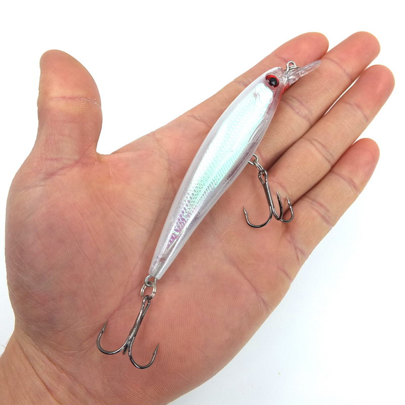1PCS Laser Minnow Fishing Lure 11CM 13G pesca hooks fish wobbler tackle crankbait artificial japan hard bait swimbait mmlong 12cm realistic minnow fishing lure popular fishing bait 14 6g lifelike crankbait hard fish wobbler tackle pesca ah09c