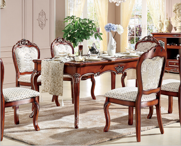 High End Classic Dining Table And Chair