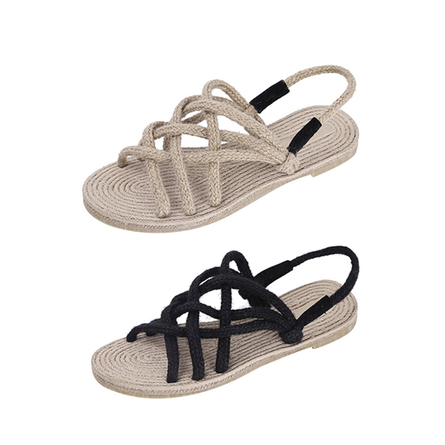 41d3197a86d 2018 Fashion Summer Sandals One Piece Shoes Straw Sandals Zori Waraji  Sandals   Flip. Price