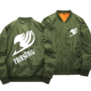 High-Q Luminous Fairy Tail Natsu baseball uniform jacket coat flying wear noctilucent Fairy Tail logo Cardigan Hoodies jacket