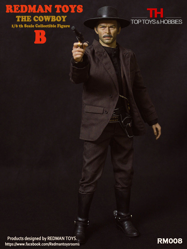 1:6 The Bad Cowboy DIY Action Figures RM008 B Colletible Model Toys Body+Head Sculpt+ Clothing Accessories Set 1 6 soldier action figure the dark zone agent renegad model accessories full set figures