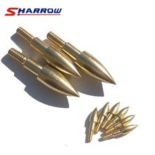 Sharrow 30 pcs Archery Arrow Target Broadhead in Hunting Point Gold Shooting Accessory