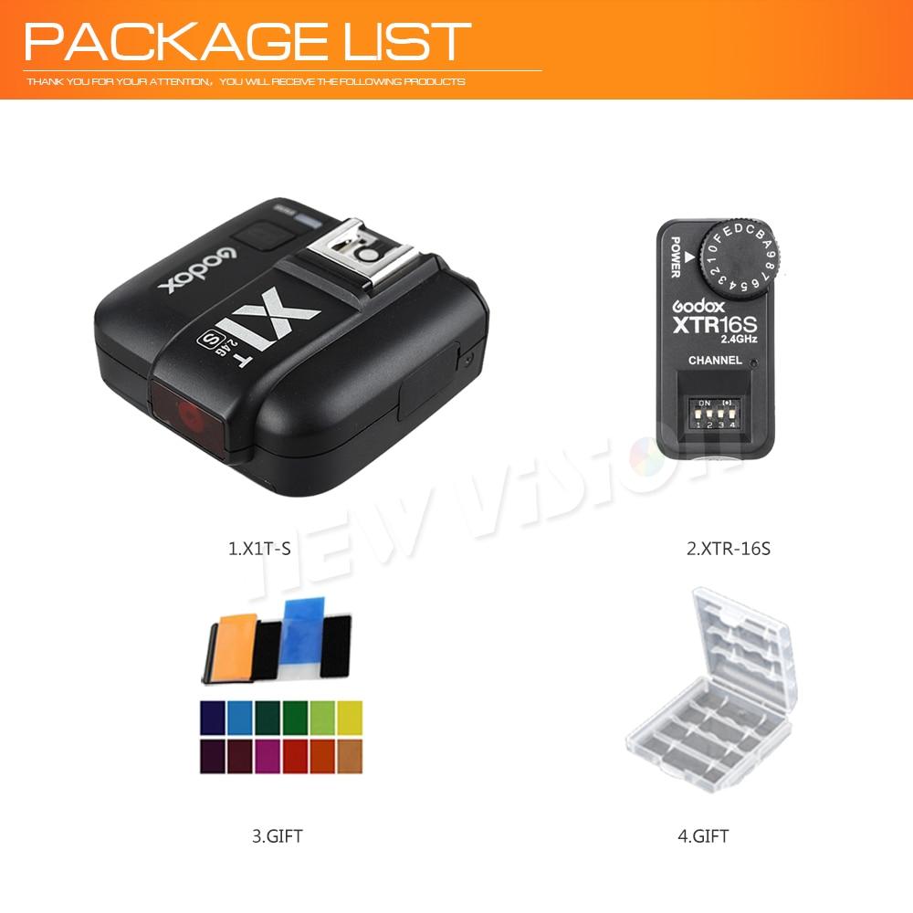 XTR-16S Receiver Set for Sony Camera UK Godox X1T-S TTL HSS 2.4G Flash Trigger