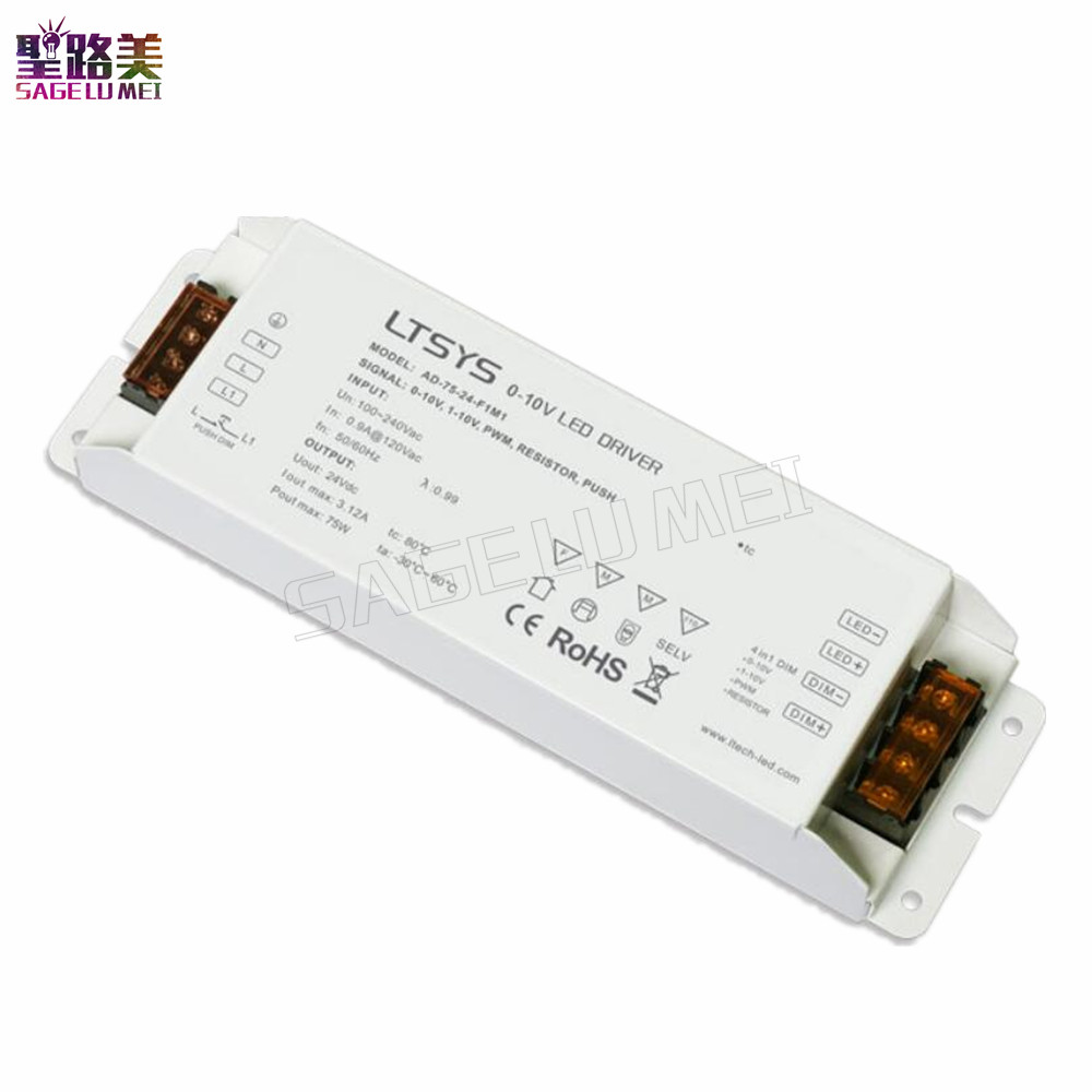 LTECH CV Led Driver AD 75 24 F1M1 AC100V 240V input DC 24V 3A 75W output