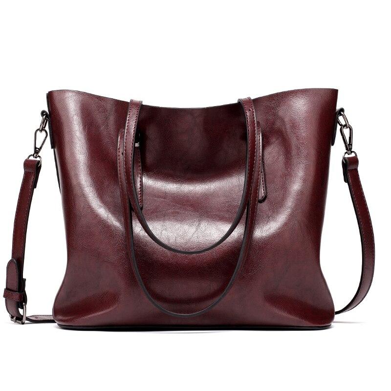 6748d519a5c1 ... Women Leather Handbags Lady Large Tote Bag Female Pu Shoulder Bags  Bolsas Femininas Sac A Main Brown Black Red. -32%. 🔍. 1  2