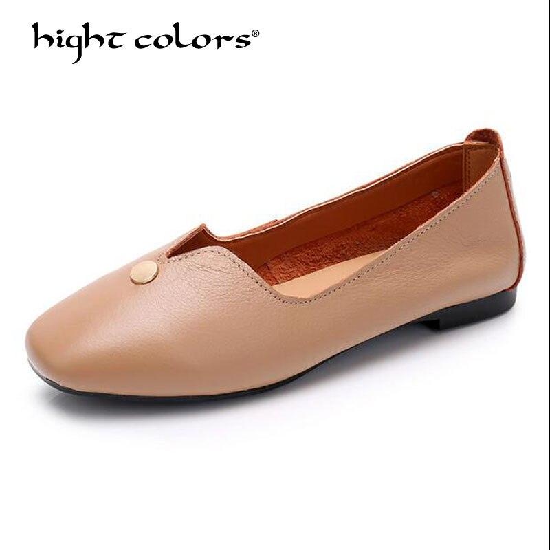 2019 printemps/automne chaussures femmes appartements mocassins doux chaussures femmes femmes chaussures bout rond confortable dames mocassins