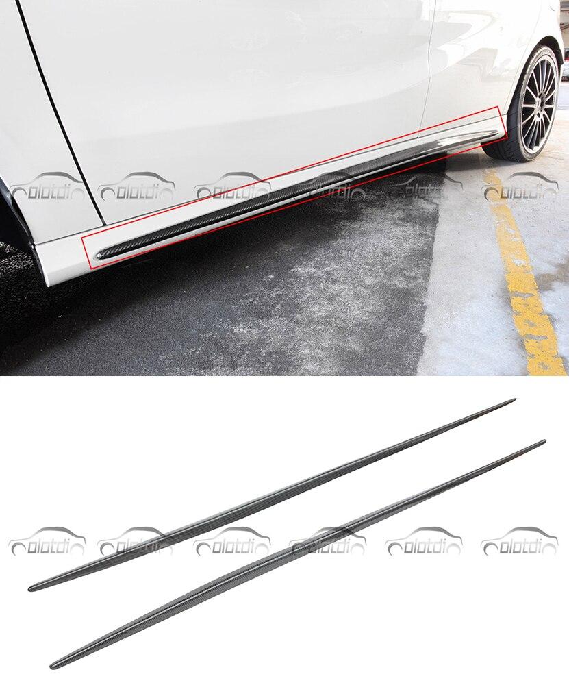 OLOTDI OEM Style voiture Style fibre de carbone jupes latérales pare-chocs lèvre pour Mercedes W176 A classe CLA classe W117 2013-2017 A45 CLA45