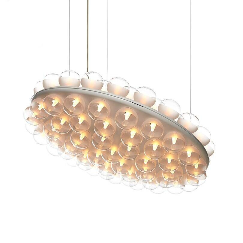 Modern Round LED Pendant Lamps Lights New Prop Light Suspension Lamp Dining Living Room Indoor Restaurant Hotel Project Lights a1 master bedroom living room lamp crystal pendant lights dining room lamp european style dual use fashion pendant lamps