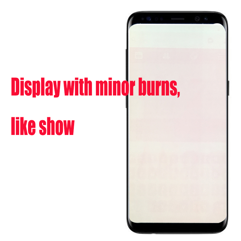 ORIGINAL S8 LCD with frame with Burn Shadow for SAMSUNG Galaxy S8 G950 G950F Display S8 ORIGINAL S8 LCD with frame with Burn Shadow for SAMSUNG Galaxy S8 G950 G950F Display S8 Plus G955 G955F Touch Screen Digitizer