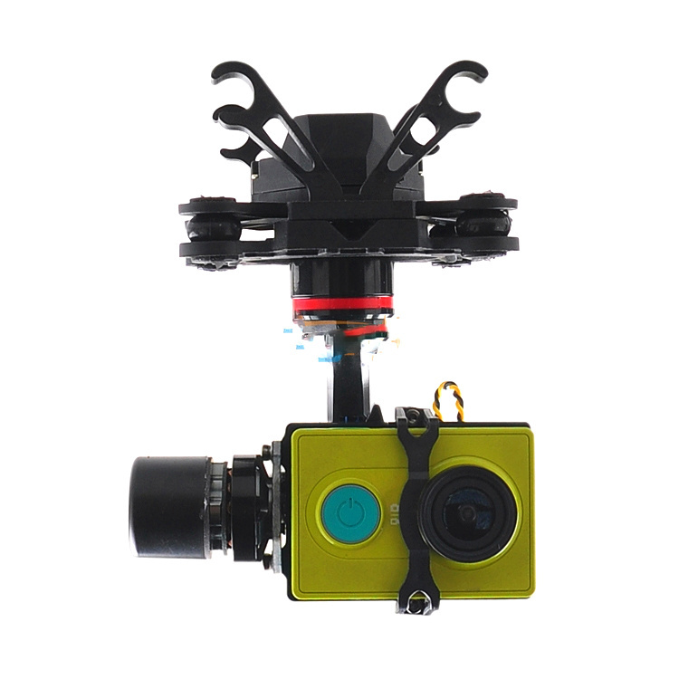 HMG YI3D 3-Axis Brushless Gimbal Camera Mount for Xiaomi YI Sports Camera SJ4000 Gopro 3 [hk stock][official international version] xiaoyi yi 3 axis handheld gimbal stabilizer yi 4k action camera kit ambarella a9se75 sony imx377 12mp 155‎ degree 1400mah eis ldc sport camera black