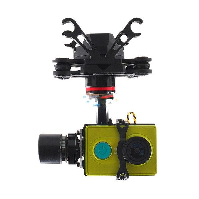 HMG YI3D 3-Axis Brushless Gimbal Camera Mount for Xiaomi YI Sports Camera SJ4000 Gopro 3
