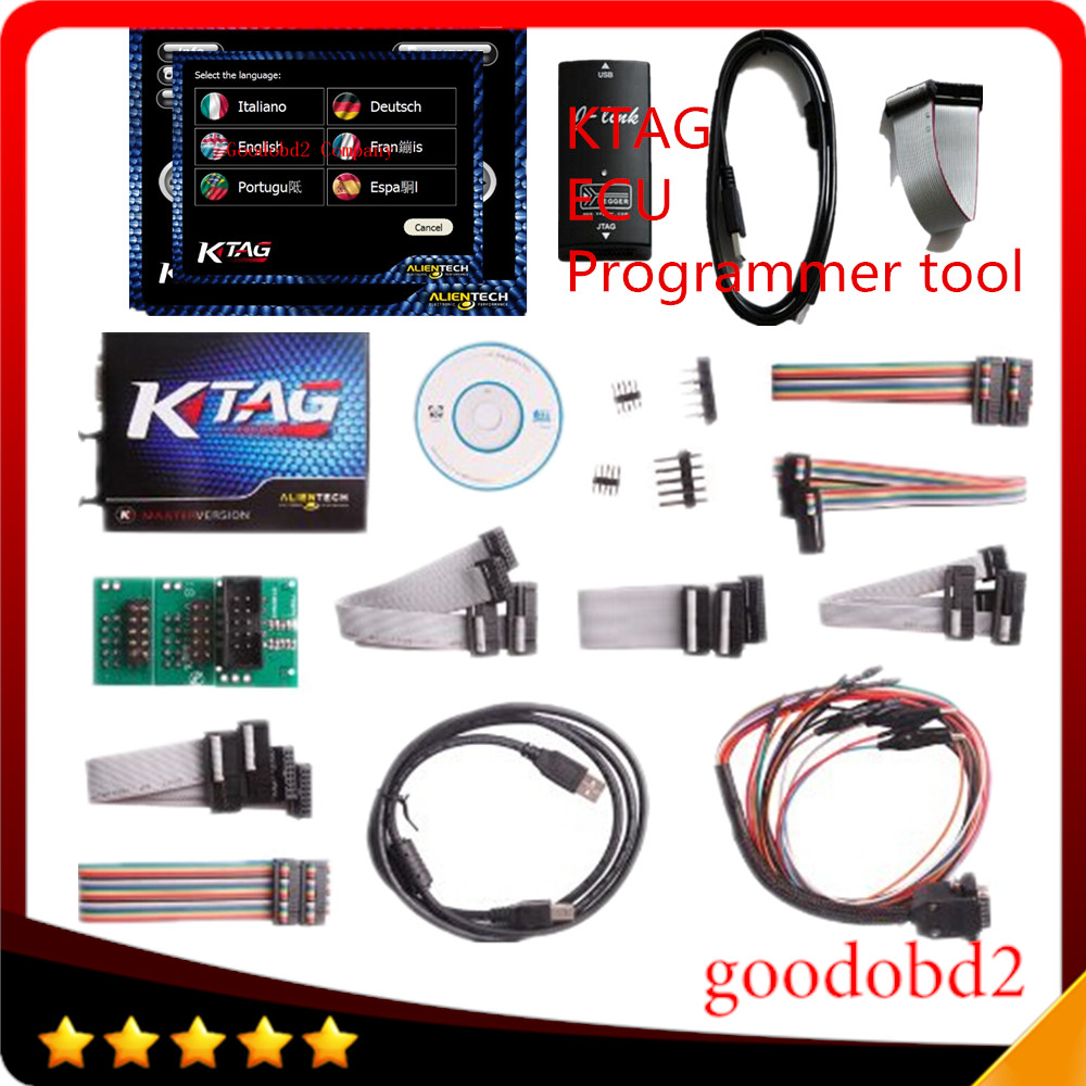 KTAG K-TAG ECU Programming Tool J-Tag Compatible Auto ECU Prog Tool Master Version V1.89 and V2.06 2 in 1 for Asian vehicles. 3502075 ecu decoder for renault silver