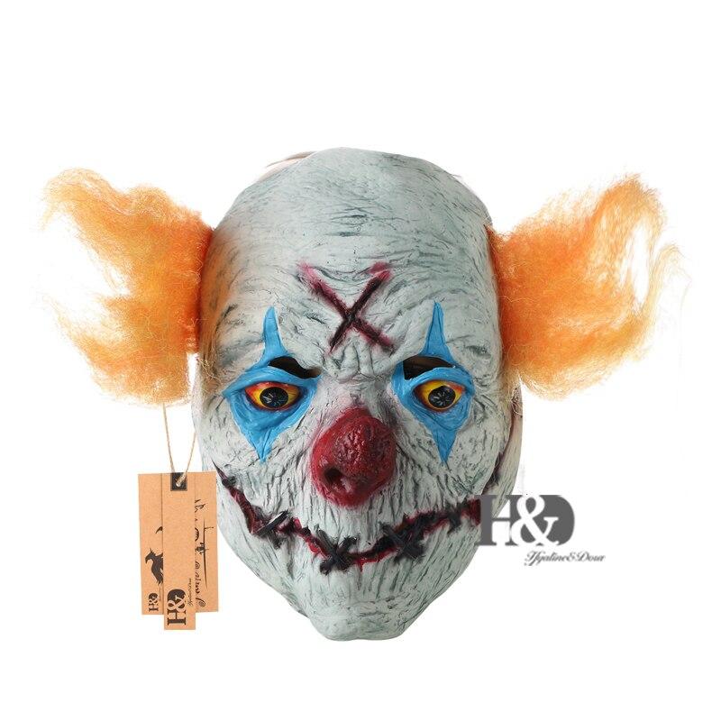 H&D Halloween Creepy Clown Mask- ը դեղին մազերով - Տոնական պարագաներ - Լուսանկար 1