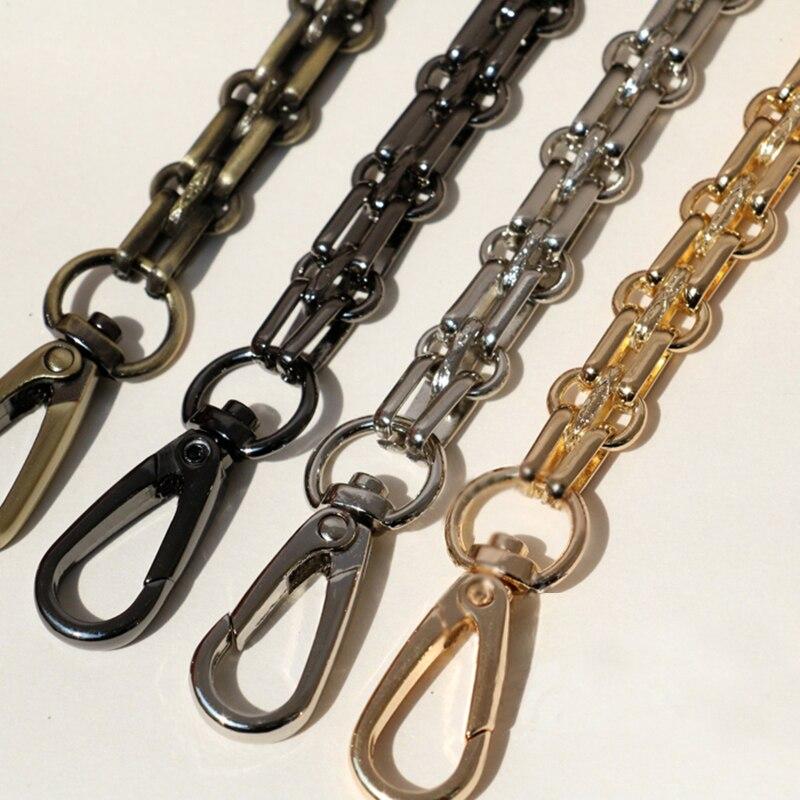 DIY 40cm-140cm Gold, Silver, Gun Black, Bronze 12mm Metal Replacement Chain Shoulder Bag Straps For Handbags, Purse Handles