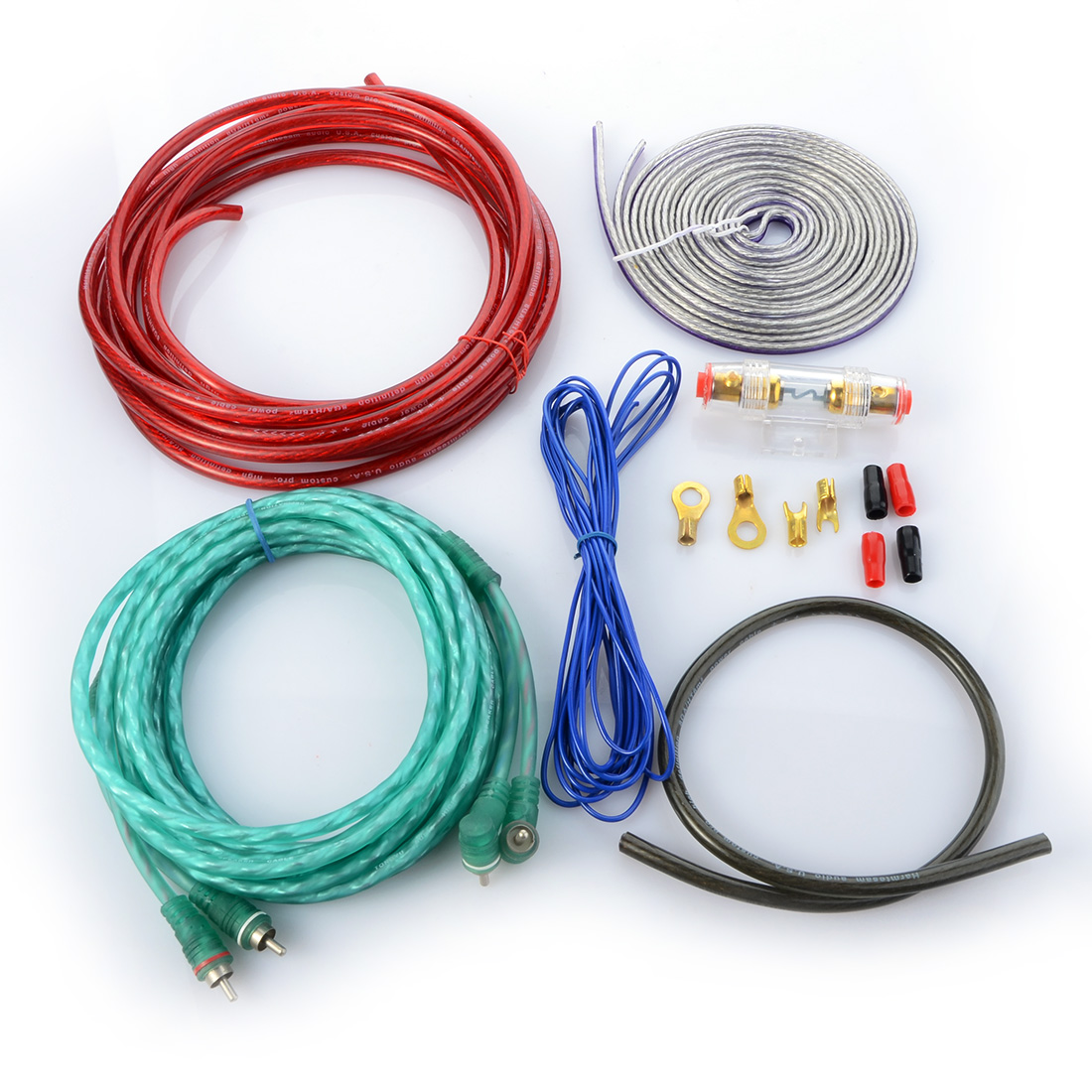 New Car Audio Wire RCA Amplifier Subwoofer Cable Speaker Wire Kit-in ...