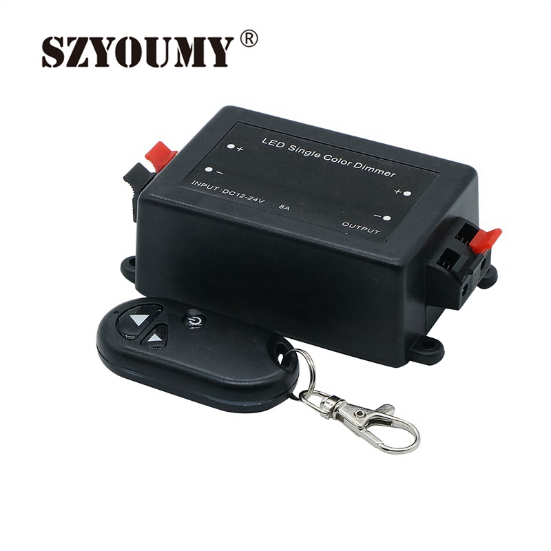SZYOUMY Wireless Convenient Practical LED Light Lamp Stable <font><b>Dimmer</b></font> Adjust <font><b>Remote</b></font> Controller Switch DC <font><b>12V</b></font> 24V 50sets image