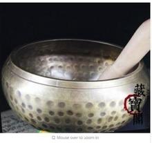 13 CM Yoga tibetano cuenco himalaya martillado a mano Chakra hogar creencia budismo China wholesale factory Bronze Arts
