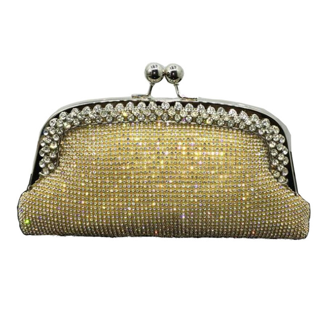 Evening Bags Women Clutch Bag Wedding Bridal Handbag Purses Diamond Evening Clutch Bags Fashion Rhinestone Bags With Chain ZD538