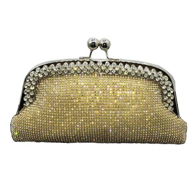 Sacos de noite de Embreagem Das Mulheres Saco Do Casamento Bolsa de Noiva Bolsas de Diamante Sacos de Noite Sacos de Embreagem Moda Strass Com Corrente ZD538