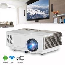 Mini LED Projector wifi USB HDMI VGA  port Ideal home projector smartphone projector portable video proyector beamer