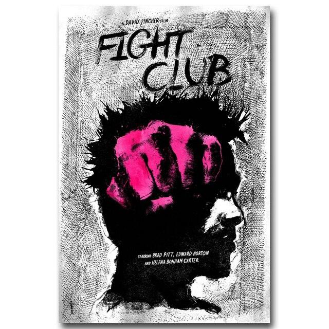 Плакат гобелен шелковый Бойцовский клуб вариант 2