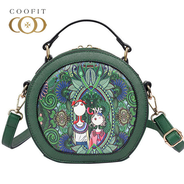 4cbb24a0a32c Coofit Womens Hot Sale Vintage Satchel Bag Modern Girls Printed Crossbody Messenger  Bags Female High Quality