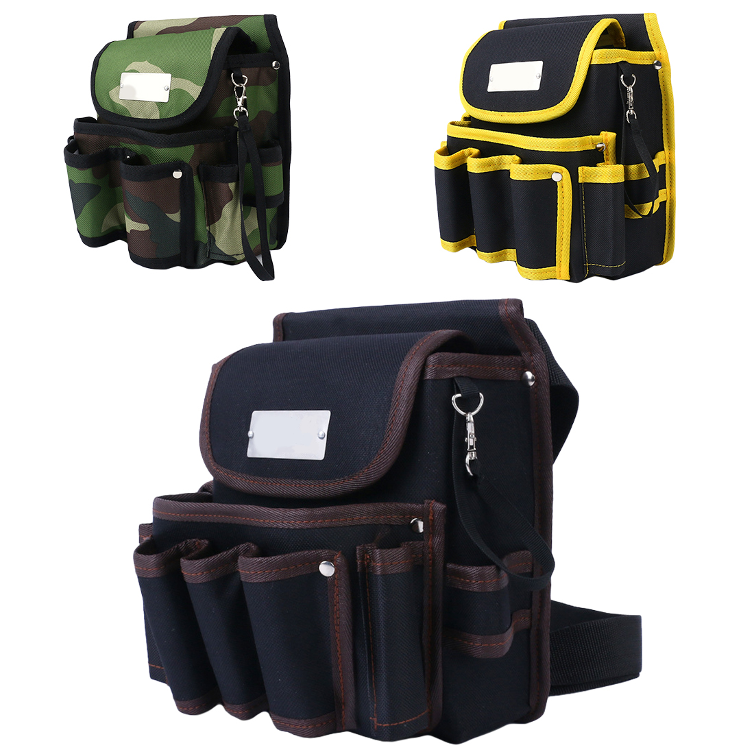 Telecommunications Holder Electrician 600D Water Proof Cloth Rivet Fixed Tool Bag Belt Utility Kit Pocket Pouch