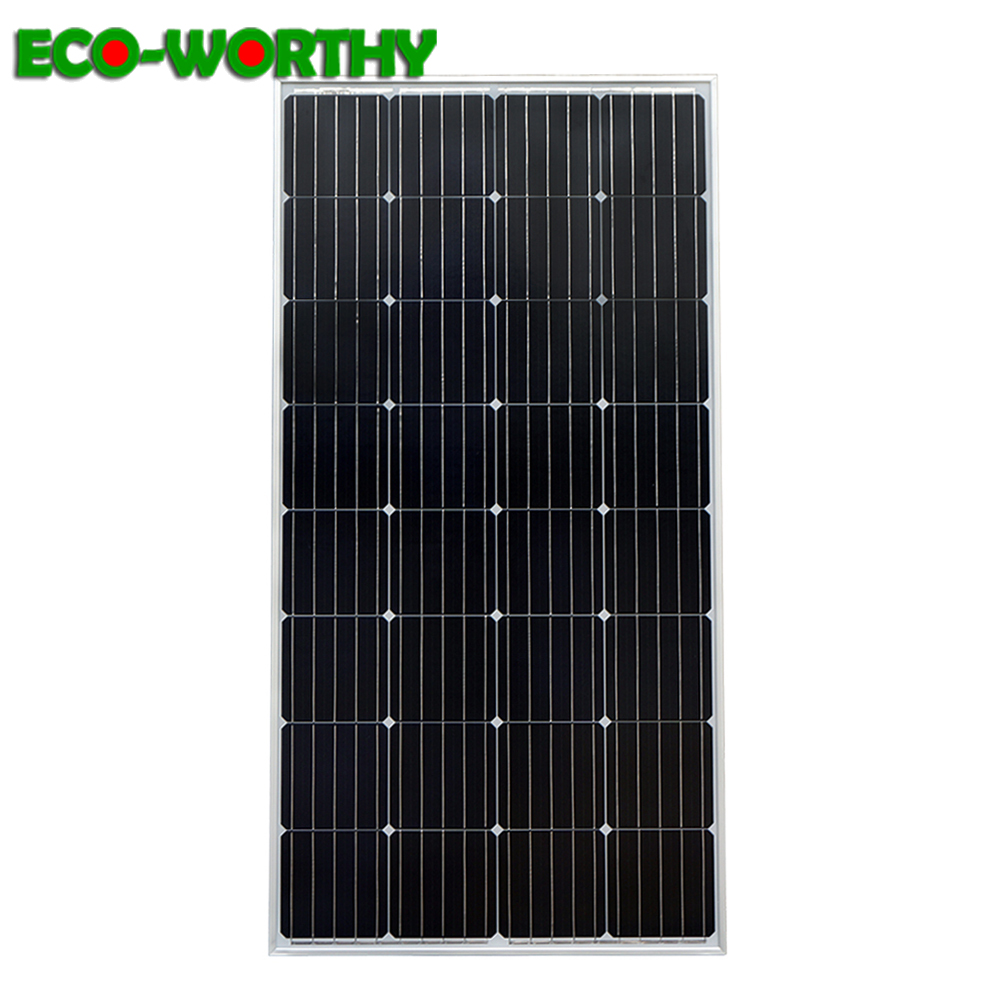 ECOworthy 150W 18V Mono Solar power Panel off Grid for 12V battery charger Home Power Charge