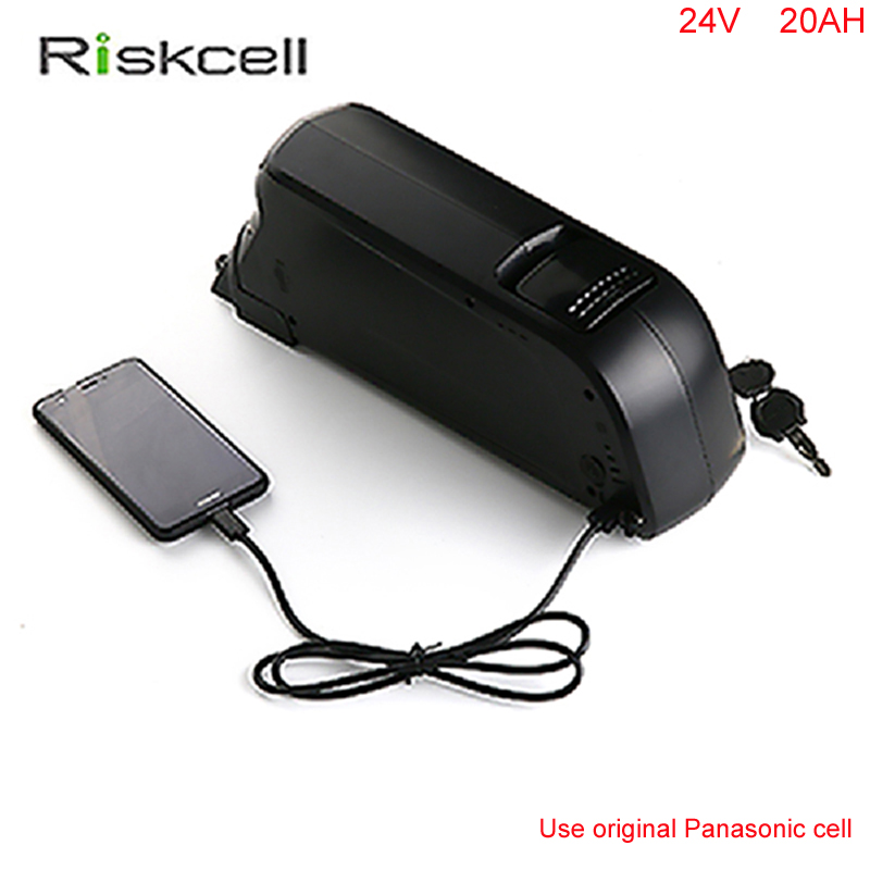 Free taxes  24volt lithium ion battery 24V 20AH electric bicycle kit 24V e-bike battery with BMS and Charger For Panasonic cell free customs taxe 48v 1000w triangle e bike battery 48v 20ah lithium ion battery pack with 30a bms charger and panasonic cell
