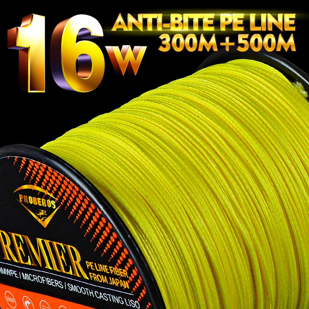 16 Stands PE Fishing Line 300M 500M 16 Weaves Super Strong Japan Braided Wire 40LB-300LB Multifilament PE Line