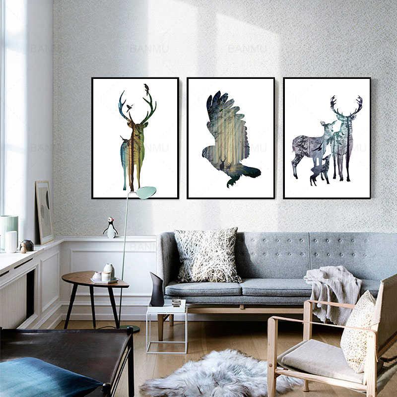 Стена в скандинавском стиле художественный плакат абстрактный рисунок на холсте милая девочка из мультфильма печать картины Домашний декор живопись для гостиной