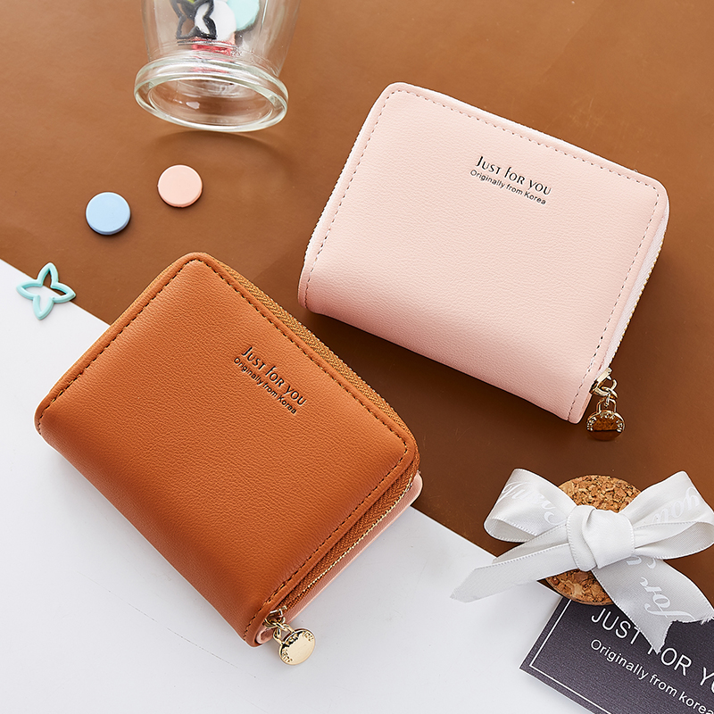 Mini Wallets Women Fashion Zipper Purse For Girls Letter Wallet Female Leather Small Photo Cards Holder Pocket Dropshipping new brand colors purse plaid leather zipper wallet cards holder wallet for girls women wallet