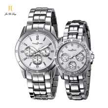 Brand Luxury Fashion 1 Pair Lovers Watch Women Men s Quartz Jewelry Diamond Wrist watches Dual