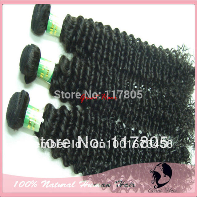 "Wholesale Brasileira Virgem Hair Extensions, 4pcs/lot Same Length 14""-28"", Color 1b, Kinky Curly Hair Weft Free Shipping ring"