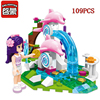 Enlighten building DIY blocks toys for children dolphin trevi fountain model Compatible legoing brand Educational bricks Birth