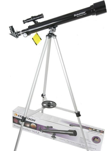 Celestron POWERSEEKER 50AZ Refractor Astronomical Entry Level For Kids Gift телескоп celestron powerseeker 60 az