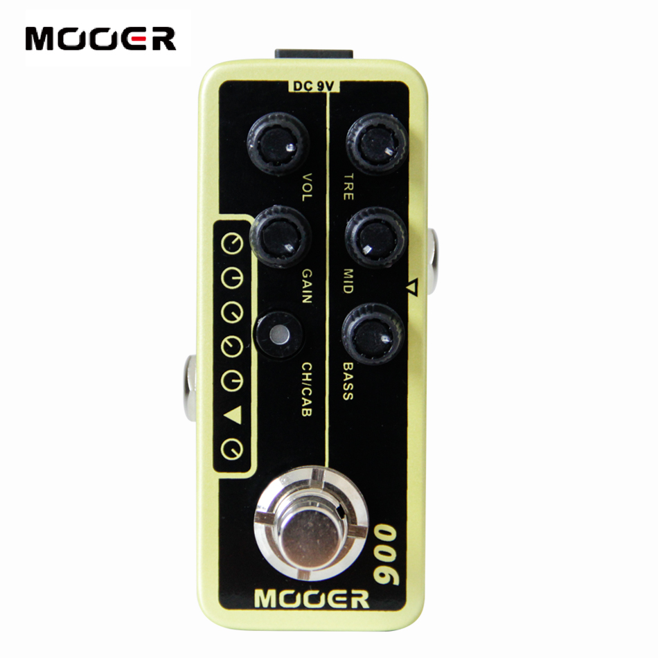 MOOER 006 Classic Deluxe Digital Preamp electric guitar pedal High quality dual channel preamp Independent 3 band EQ mooer 002 uk gold 900 micro preamp dual channel 3 band eq gain volume controls guitar effect pedal with free gift