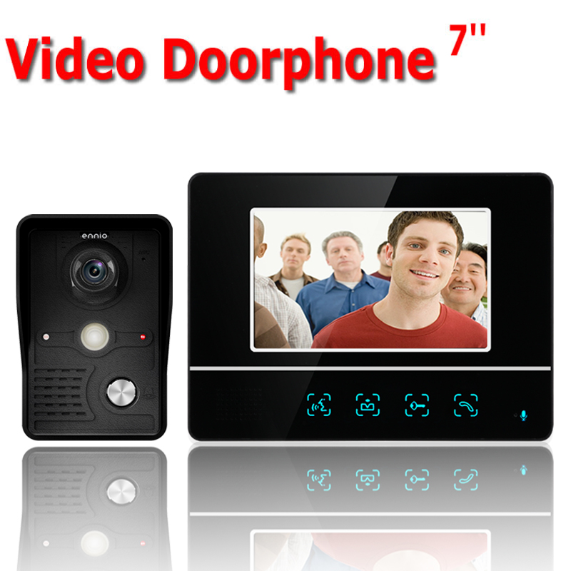 7 Inch TFT Touch Screen Color LCD Video Door Phone Wired Video Intercom 1 Monitor Doorbell Intercom system7 Inch TFT Touch Screen Color LCD Video Door Phone Wired Video Intercom 1 Monitor Doorbell Intercom system