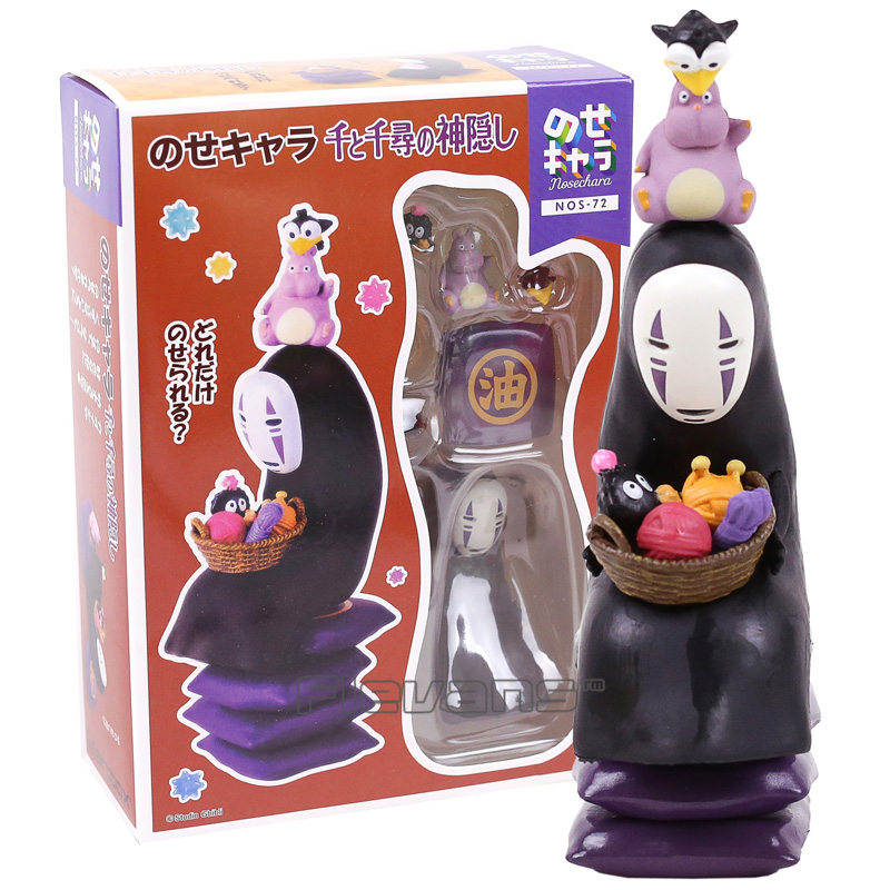 Miyazaki Hayao Spirited Away No Face Man PVC Action Figures Collectible Model Toys Gifts patrulla canina with shield brinquedos 6pcs set 6cm patrulha canina patrol puppy dog pvc action figures juguetes kids hot toys