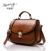 Kamicy  brand  2017 fashion  women  handbag  bag  small  Crossbody bag  retro  summer  bag leather handbag leisure  saddle  bags