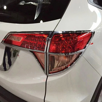 For Honda HRV HR V Vezel 2014 2018 ABS Chrome After Rear Tail Lamp Frame Cover Trim Car Styling Quality Sequins accessories 4pcs
