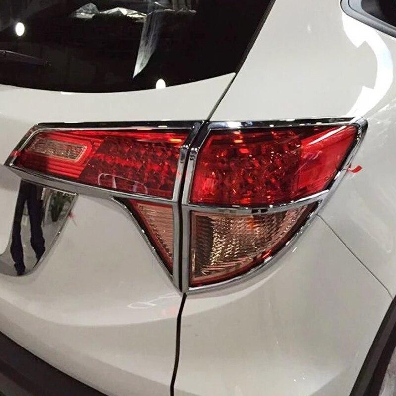 Pour Honda HRV HR-V Vezel 2014-2018 ABS Chrome après arrière feu arrière cadre cadre garniture voiture style qualité paillettes accessoires 4 pièces