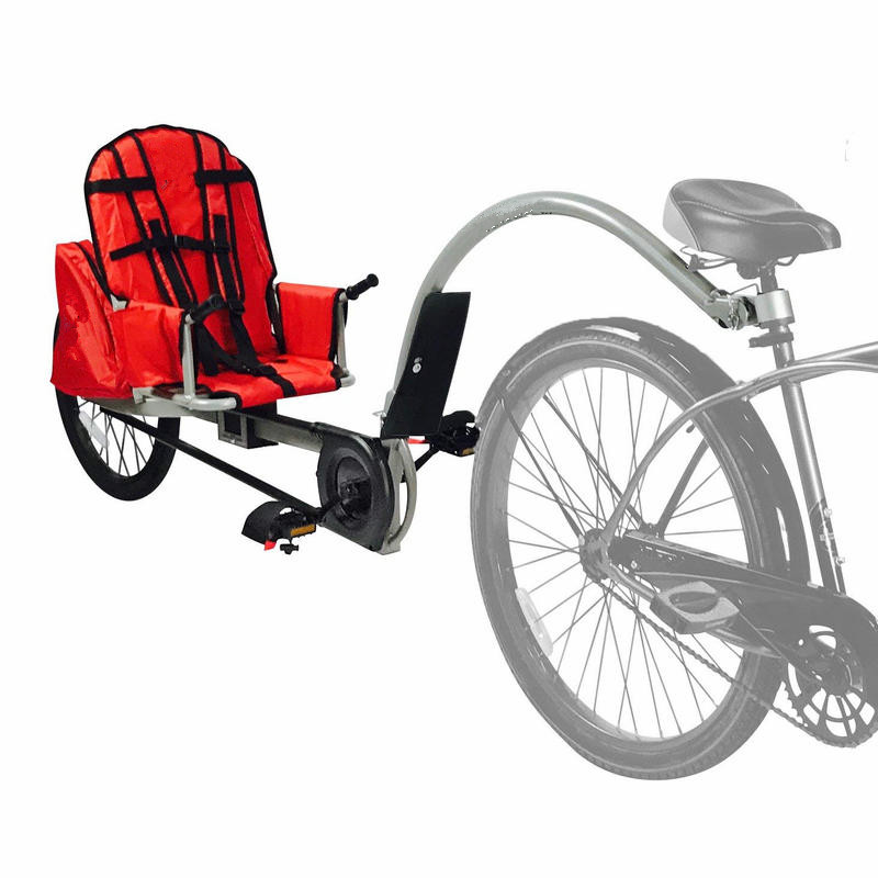 Children's Bicycle Trailer Suit For 3-10ages Kids, 1 Passenger Bicycle Trailer, Single Baby Bike Jogger Can Load 88LBS