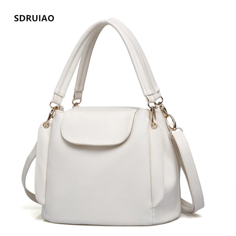 Hot Handbag Women Casual Tote Bag Female Shoulder Messenger Bags High Quality PU Leather Handbag with Three-tier Capacity Space