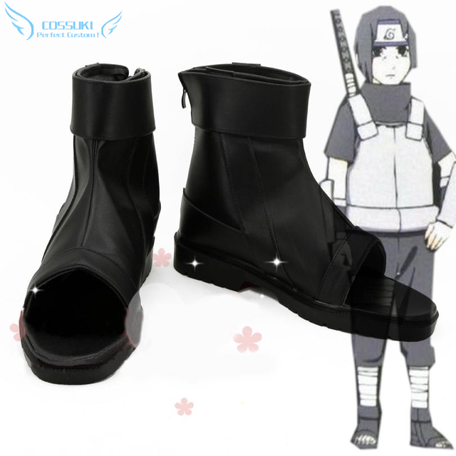 NARUTO Uchiha Itachi Cosplay Shoes Boots Profesional Hecho A Mano! Personalizado perfecto para Usted!