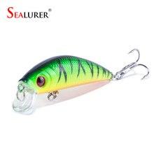 Brand Lifelike 3D Eyes Minnow font b Fishing b font Lure 7CM 8 5G 6 Hooks