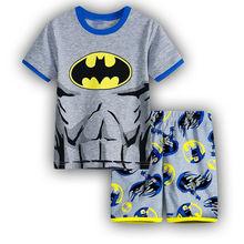 2019 Casual Homewear Pajamas Cartoon Cotton Batman Childrens Sets Baby Boy T-shirt Shorts Kids Clothing Summer