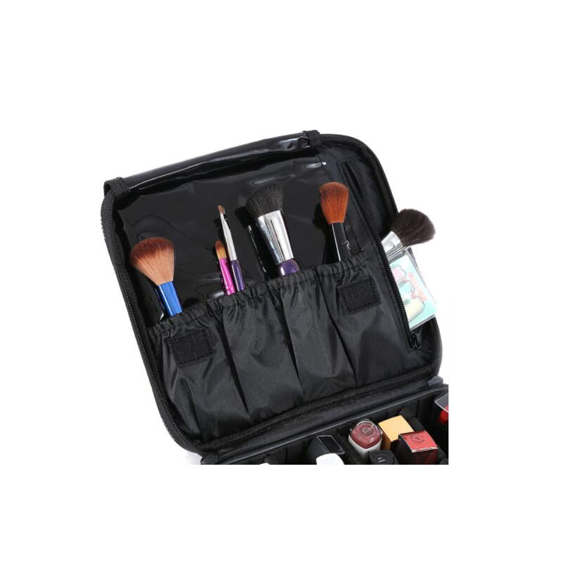 High quality PU leather cosmetic case folding multi pocket cosmetics makeup brush storage box travel cosmetics storage organizer in Storage Boxes Bins from Home Garden