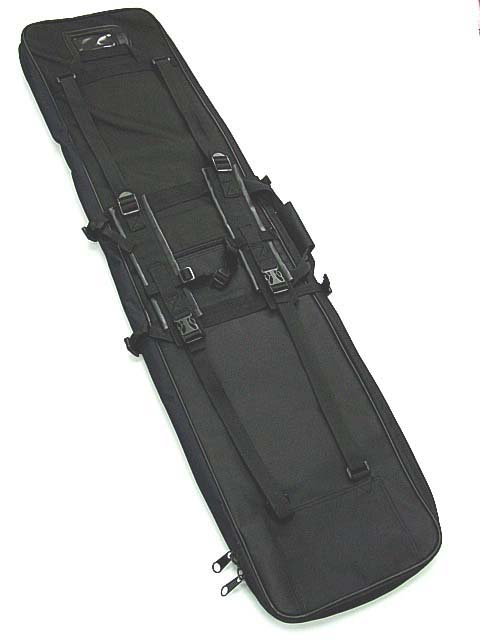 Competent 48 120cm Gun Bag Dual Tactical Rifle Sniper Carrying Case Gun Bag Bk Moderate Cost Camping & Hiking