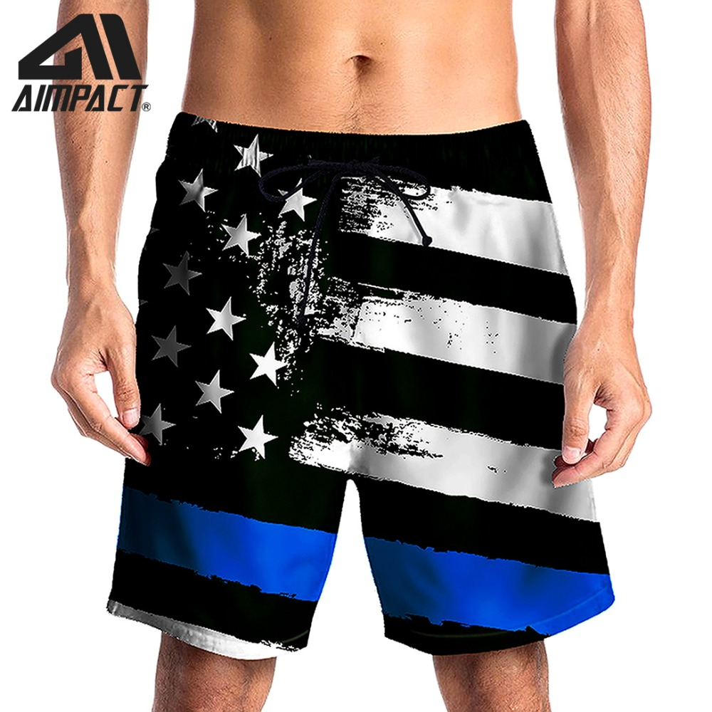 Quick Dry   Board     Shorts   for Men Classic Flag Summer Holiday Beach Surf Leisure Swim Trunk Casual Pool Running Hybird   Short   AM2131